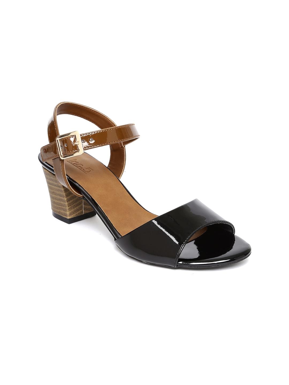 Inc 5 Women Black Colourblocked Sandals image