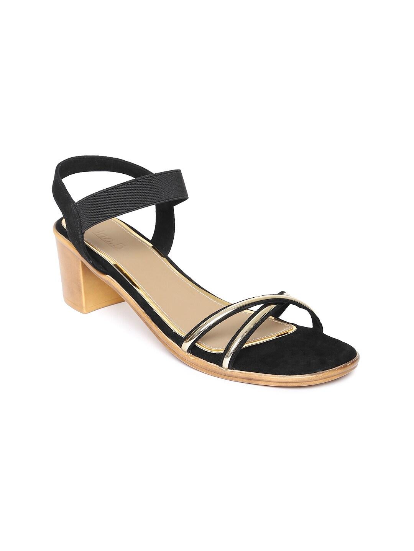Inc 5 Women Black Solid Sandals image