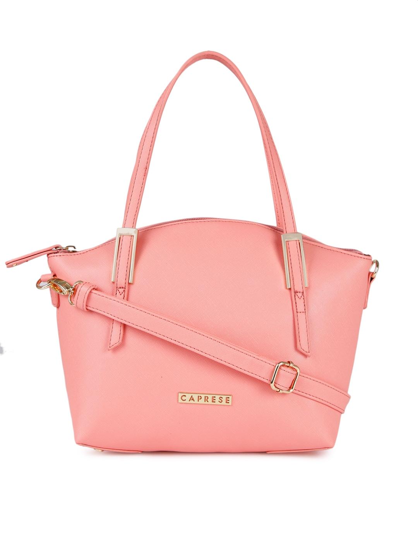 Buy Caprese Pink Solid Shoulder Bag at best price