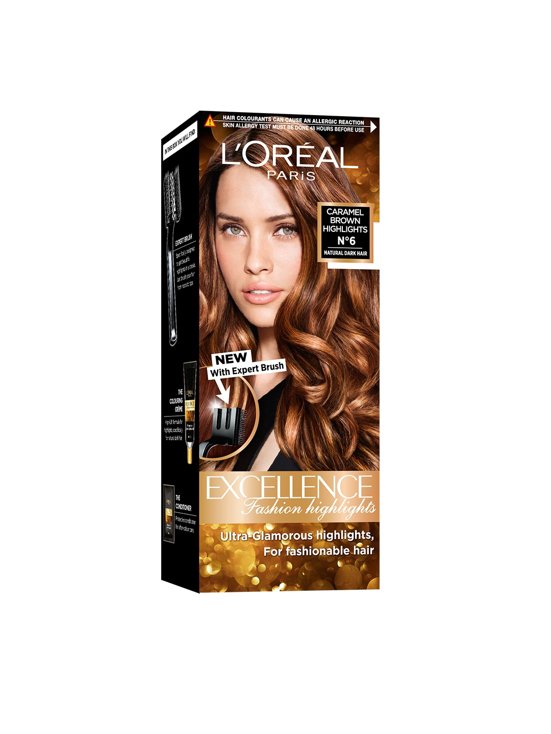 Loreal Excellence Fashion Highlights Caramel Brown Hair Color image