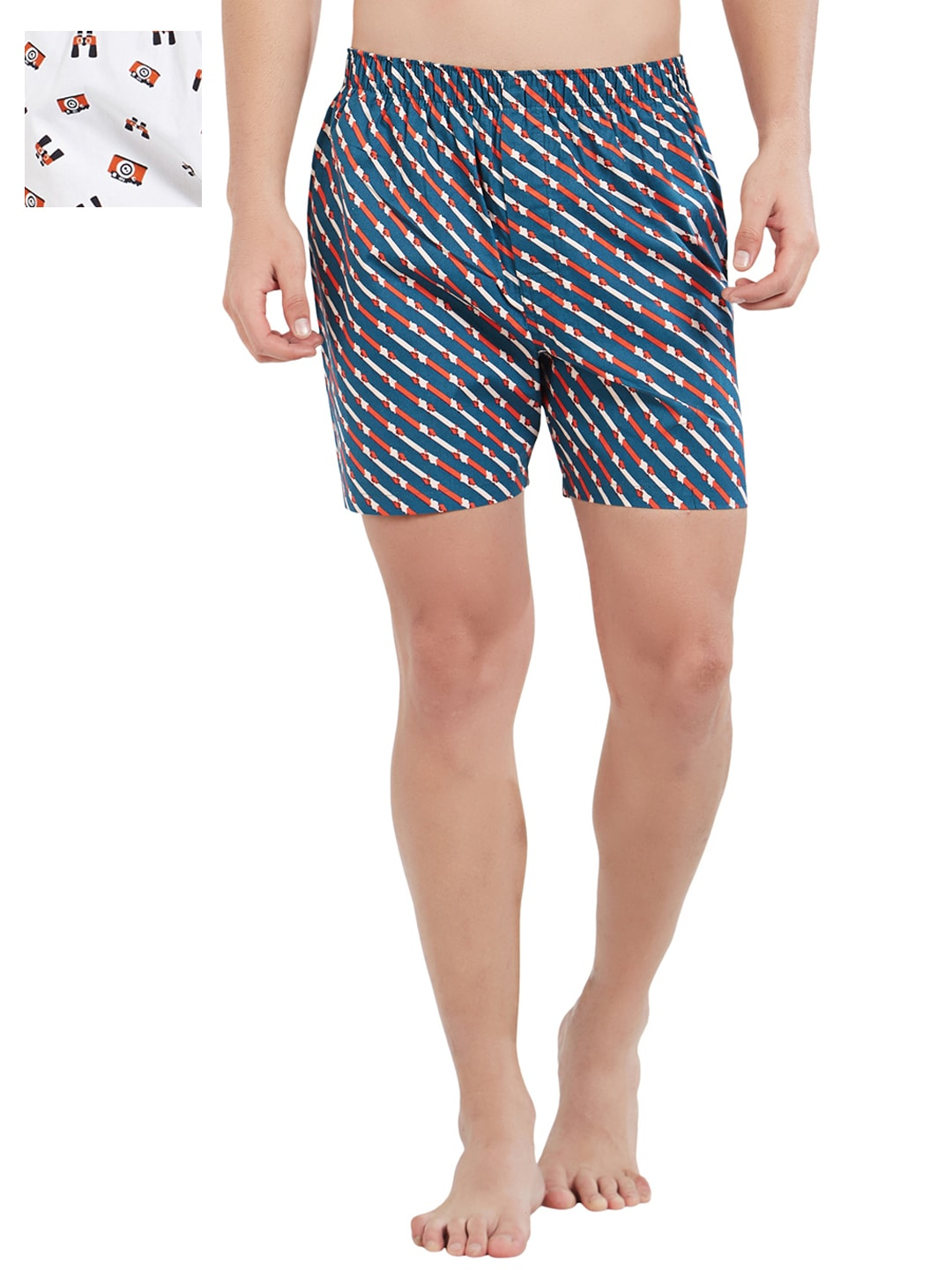 XYXX Men Pack of 2 Slim Fit Printed Boxers XYBOX2PCKN62 image