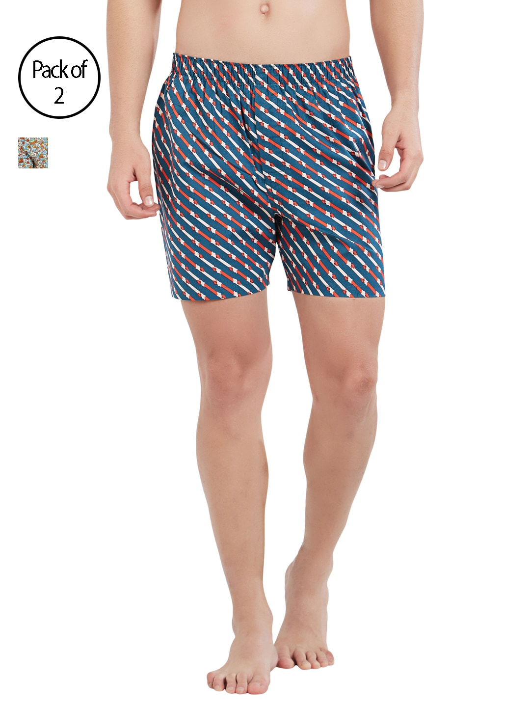 XYXX Men Pack of 2 Slim Fit Printed Boxers XYBOX2PCKN64 image