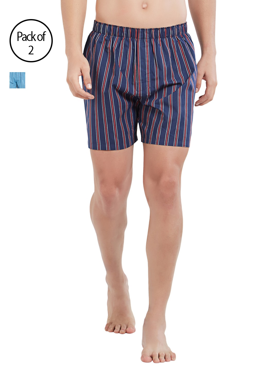 XYXX Men Pack of 2 Slim Fit Striped Boxers XYBOX2PCKN79 image
