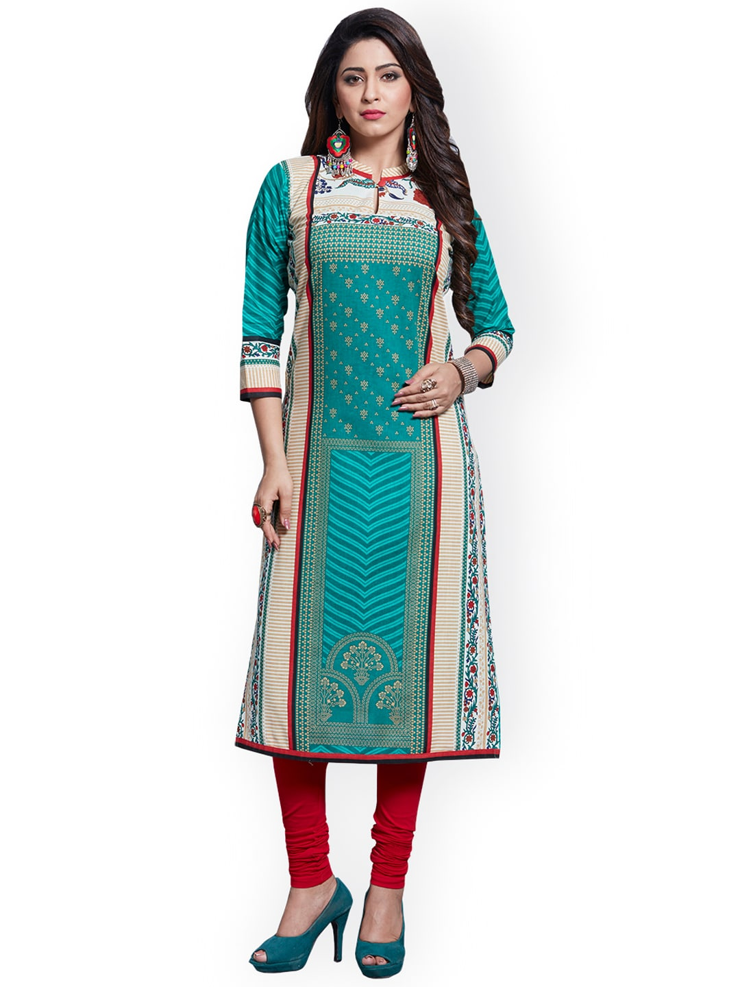 Ishin Blue Pure Cotton Unstitched Dress Material image