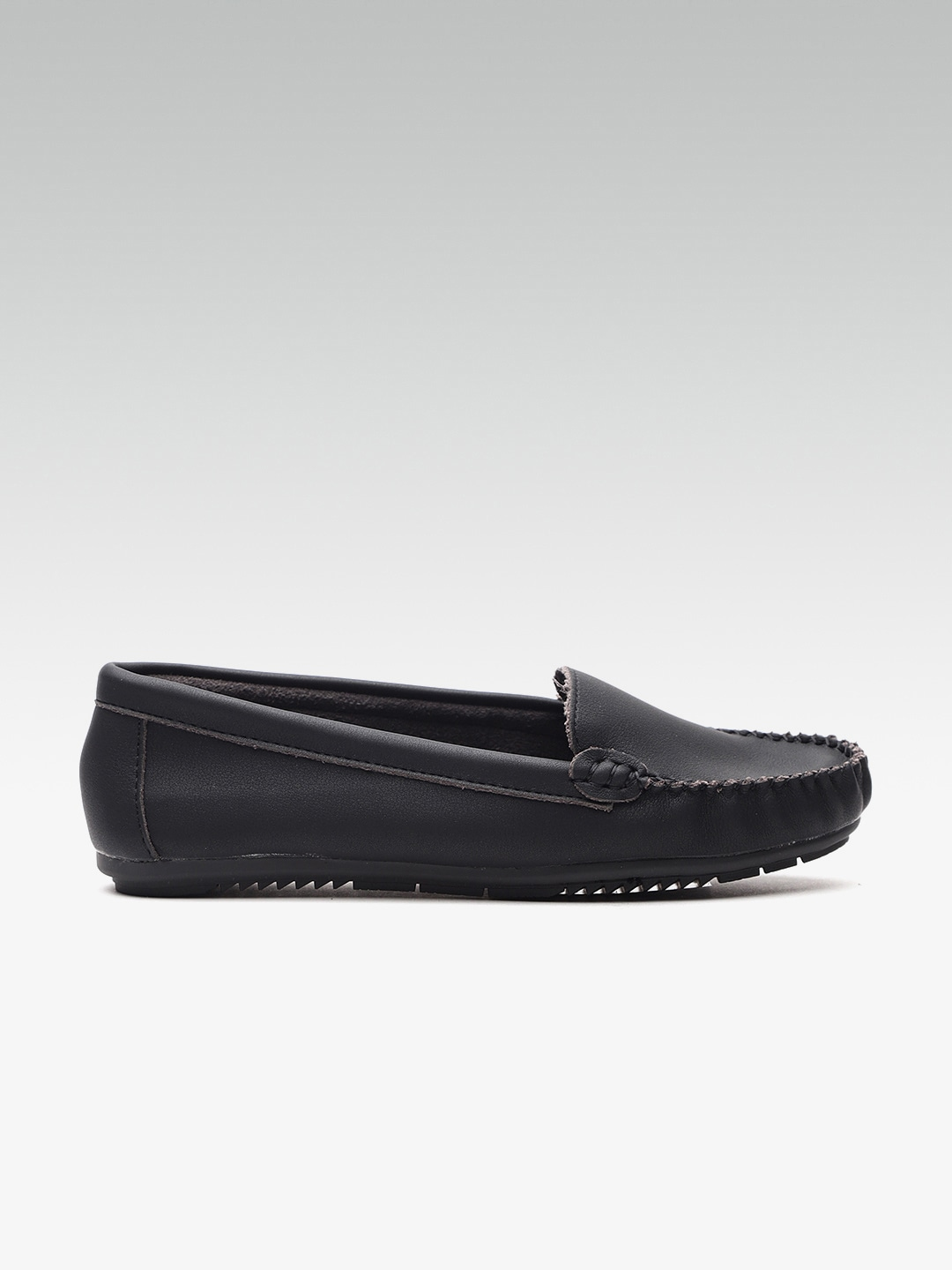 Van Heusen Women Black Loafers image