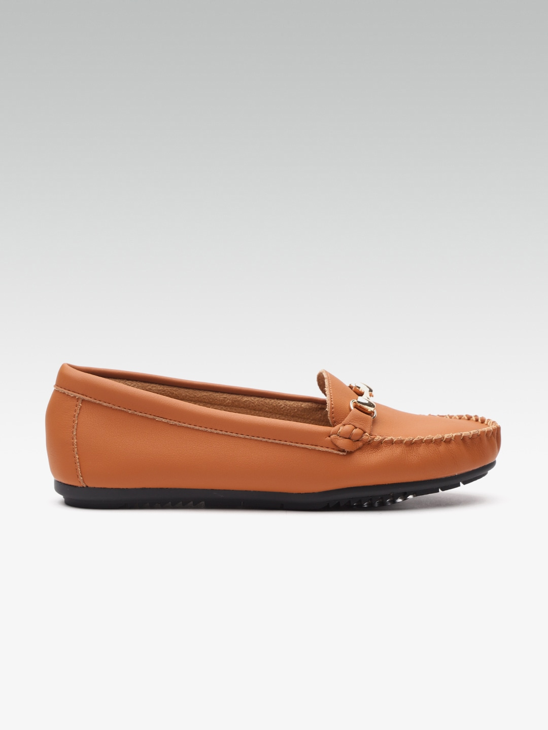 Van Heusen Women Tan Brown Loafers image