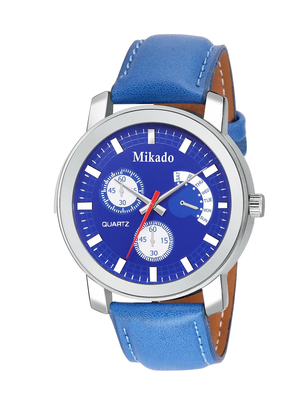 Mikado Men Blue & Silver-Toned Analogue Watch image