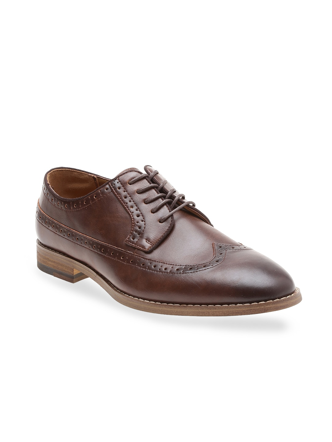 Call It Spring Men Brown Formal Derby Shoes image