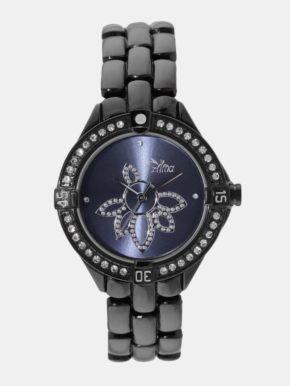 Ilina 453BPFLWPUR Women's Watch image.