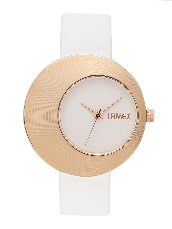 LAMEX Women White Leather Analogue Watch SWIFT DLX 4508 image