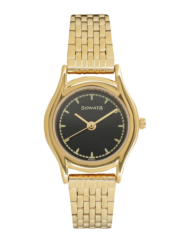 Sonata Women Gold-Toned Analogue Watch 87020YM02 image