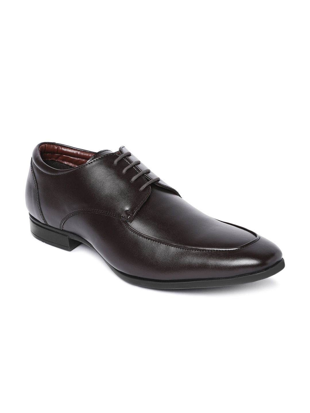 Get Bata Brown Solid Formal Oxford Men's Shoes Online At Best Price