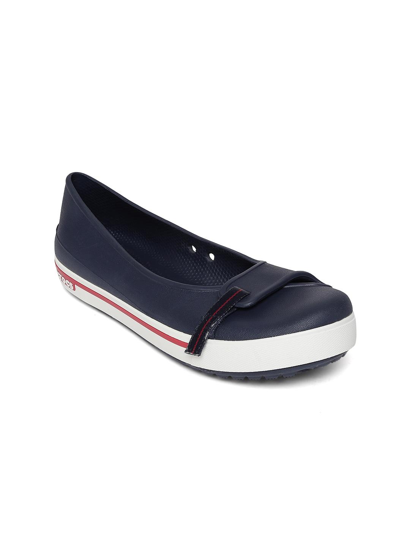 Crocs Women Navy Flat Shoes image
