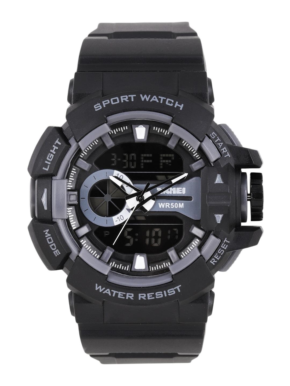 Skmei Men Black Analogue and Digital Watch 1117-BK image