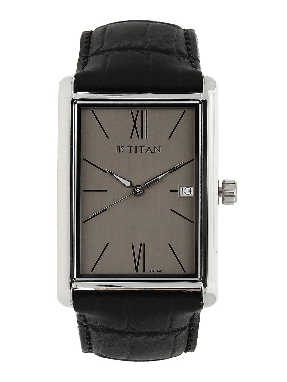 Titan Men Grey & Black Analogue Watch NK1731SL02 image