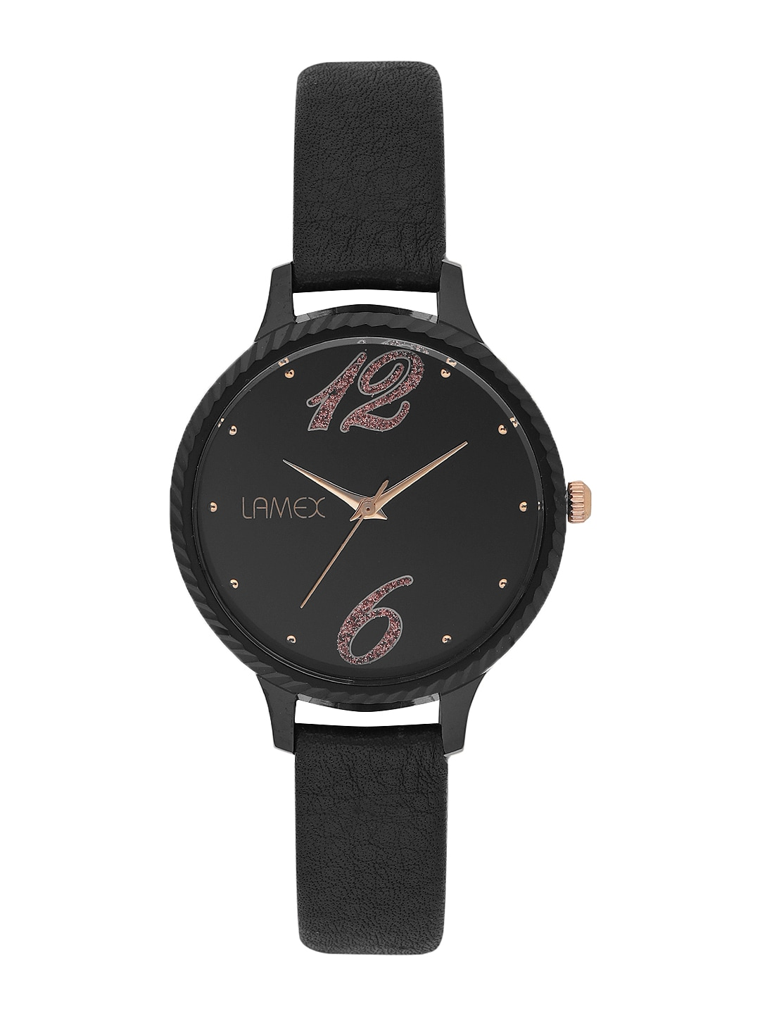 LAMEX Women Black Analogue Watch INNOVADLX 4062 image