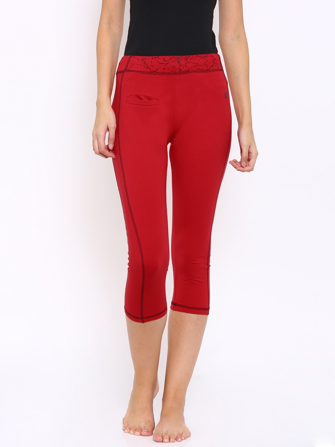 SDL by Sweet Dreams Red Active Capris image