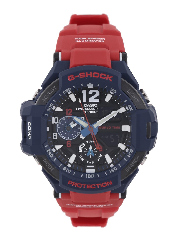 Casio G-Shock Men Red Analogue-Digital Watches (G597) GA-1100-2ADR image