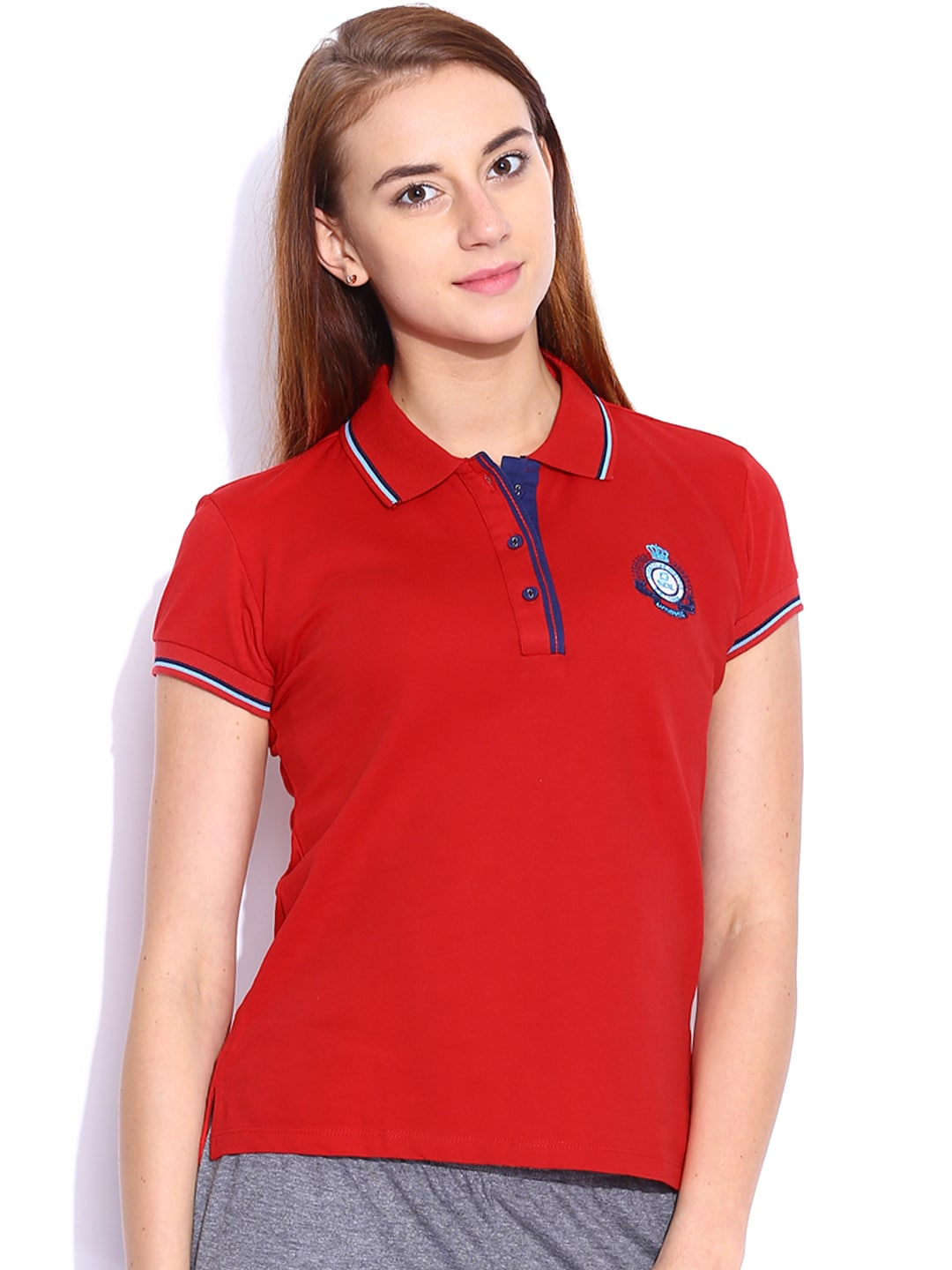 SDL by Sweet Dreams Red Polo T-shirt image