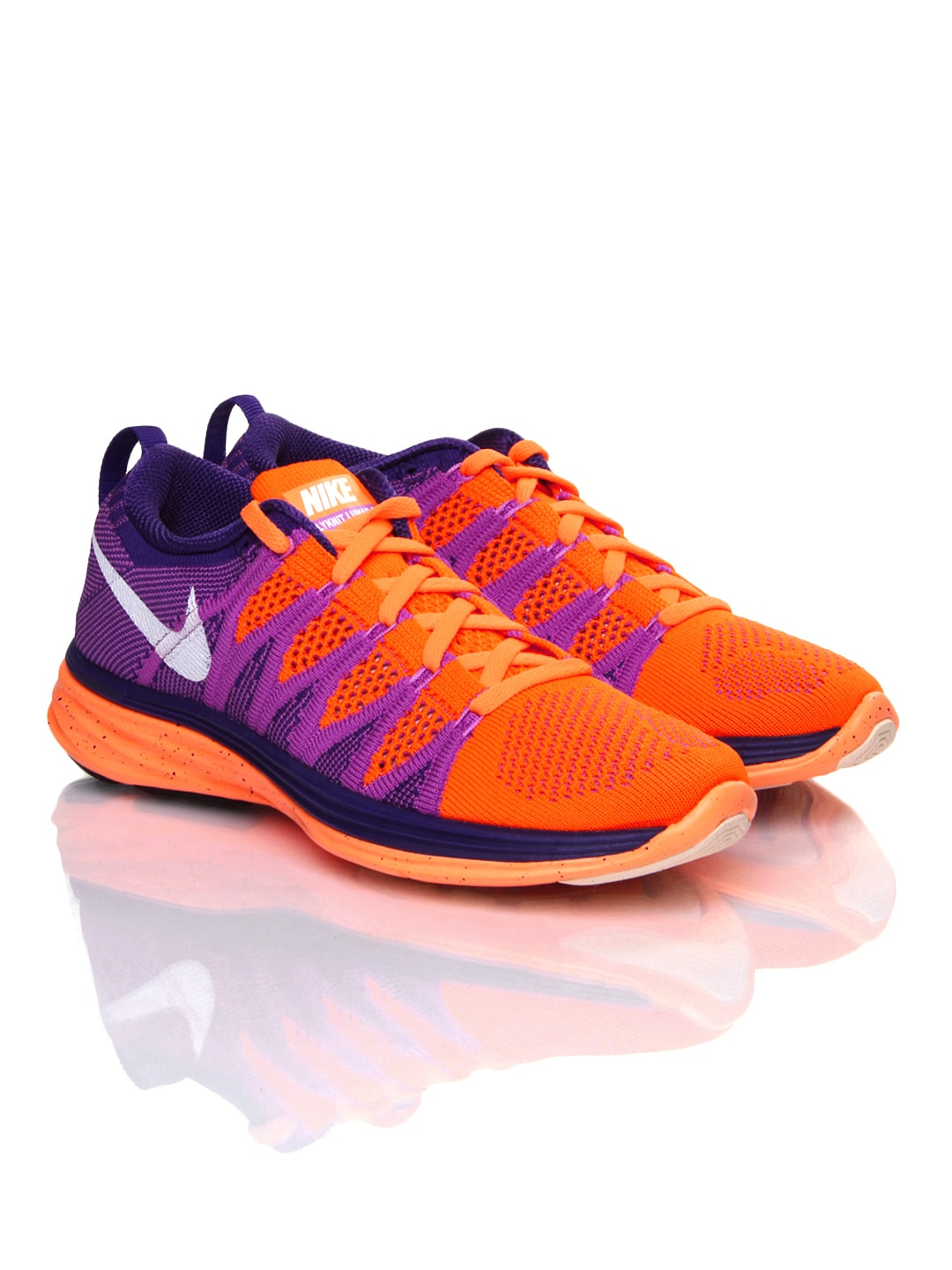 outlet store sale 4eebc 81e0e Nike 620658-815 Women Pink And Neon Orange Flyknit Lunar 2 Running Shoes-  Price in India