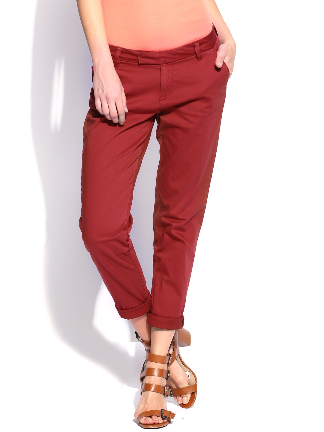 Women Trousers Pants Price List In India 22 November 2018 Catriona Maddie Sling Bag Green 55off Us Polo Assn Red Comfort Fit