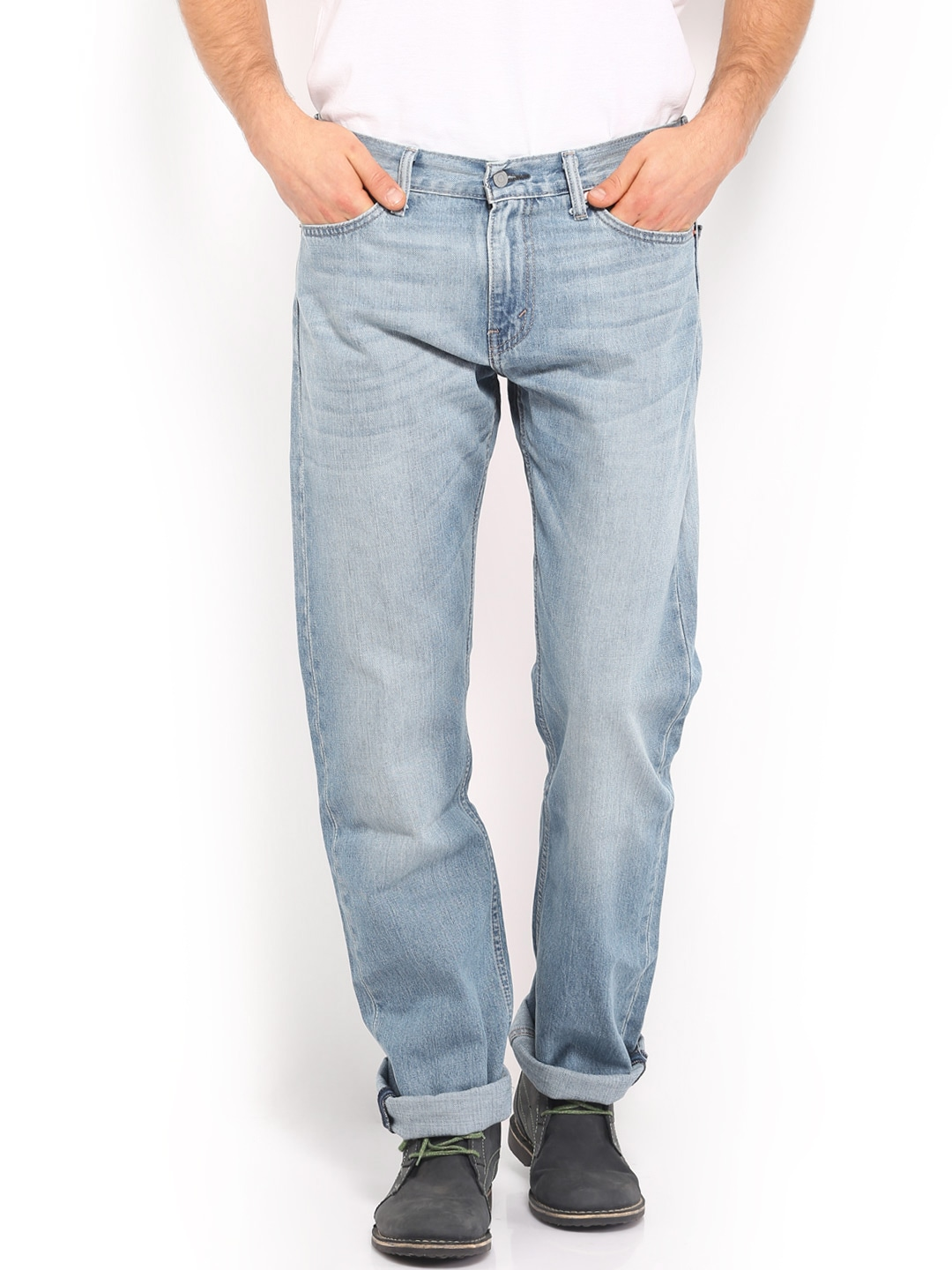 fd617249 Levis 29990-0378 Men Blue 504 Regular Straight Fit Jeans- Price in India