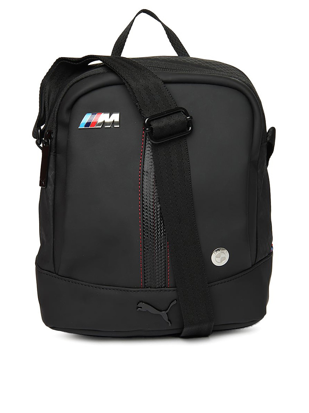 eb299669db5f Puma 7316701 Unisex Black Bmw M Collection Portable Messenger Bag- Price in  India
