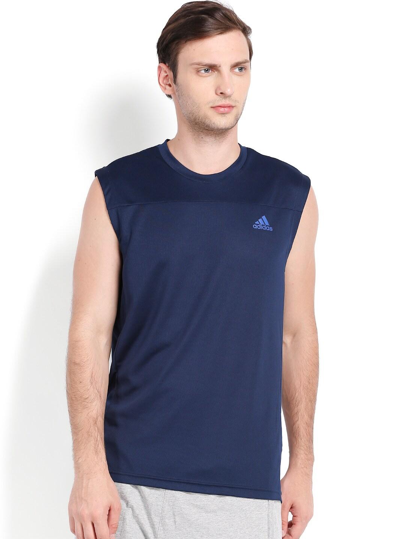 Adidas a98931 Men Navy Sleeveless T Shirt Best Price in