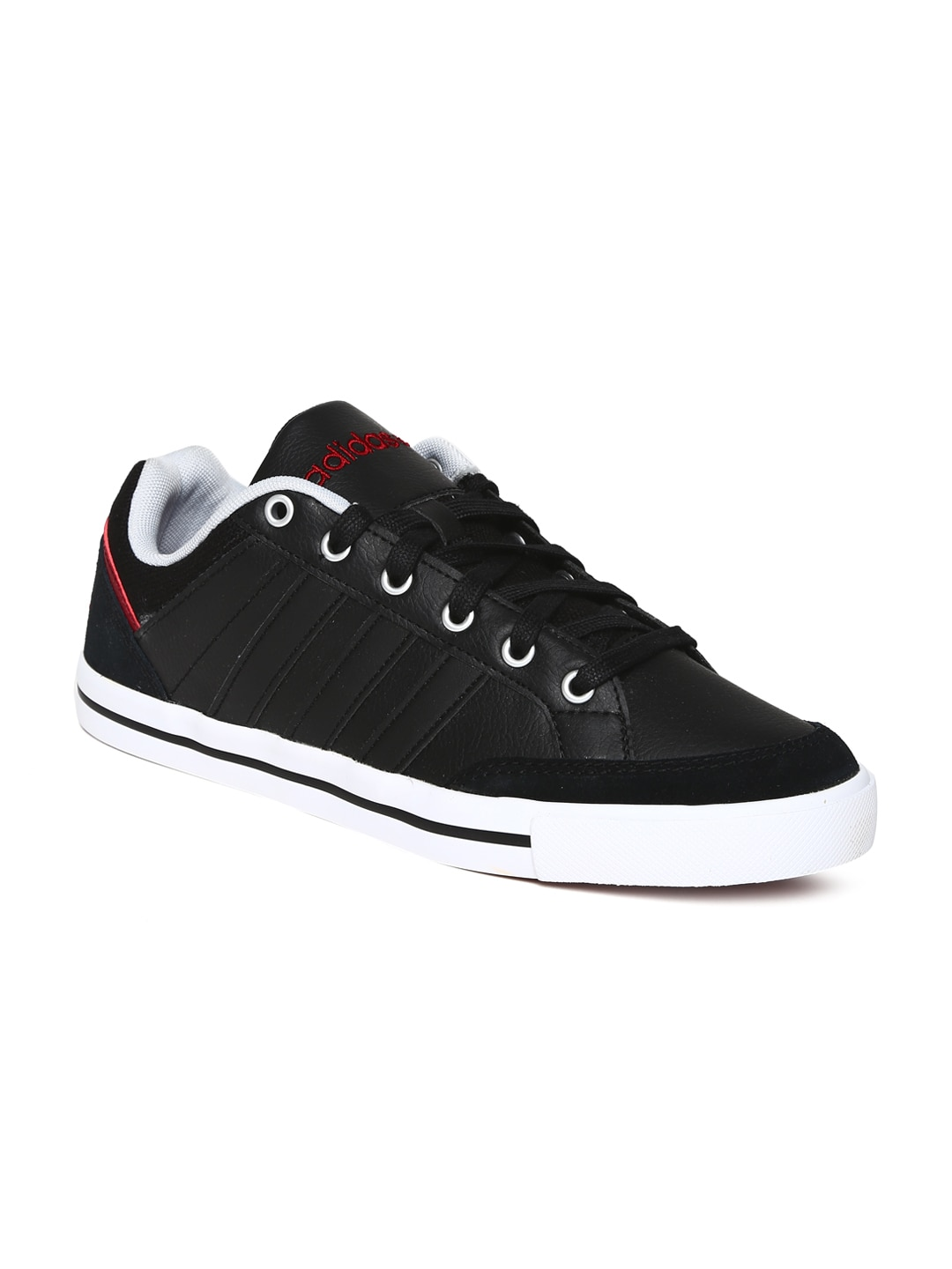best service b1083 cf5a6 Adidas neo f97696 Men Black Cacity Leather Casual Shoes- Price in India