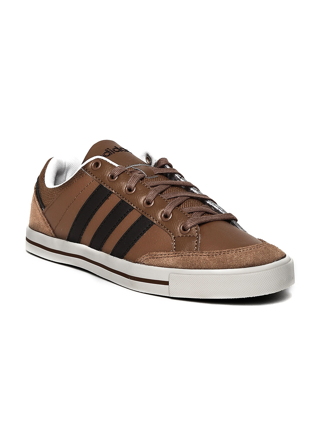 46028442e868 Adidas neo f97697 Men Brown Cacity Leather Casual Shoes- Price in India