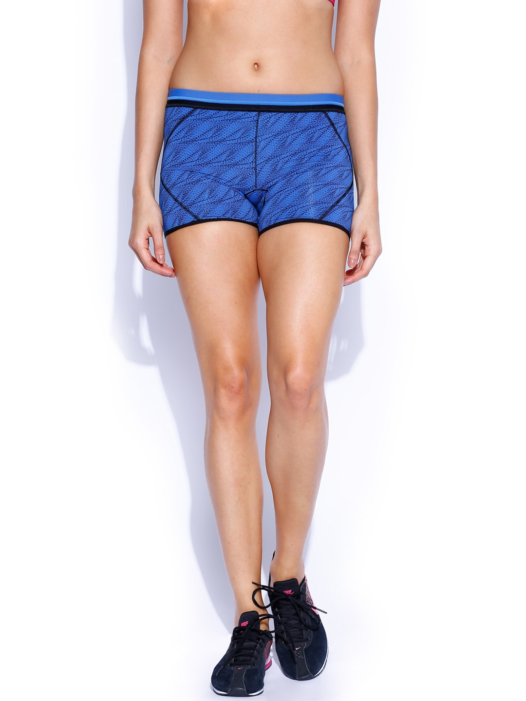 Enamor Women Blue Printed Boyshorts image