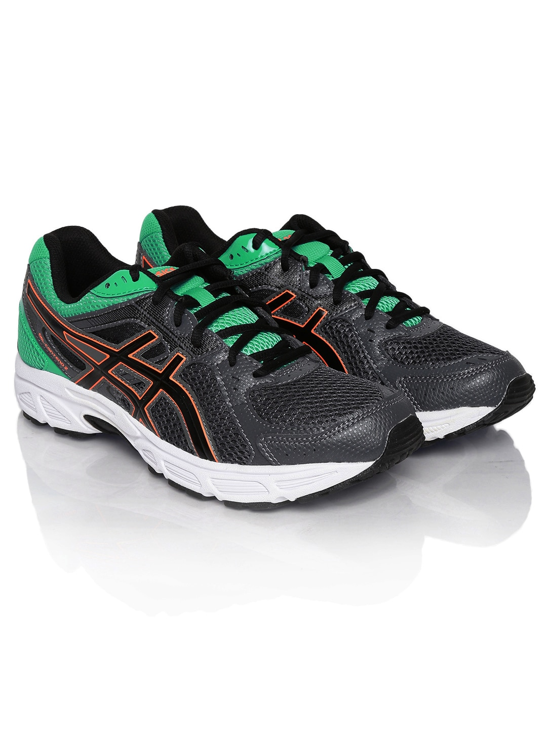 dd1486150bfd Asics t424n-7690 Men Grey And Green Gel Contend 2 Running Shoes- Price in  India