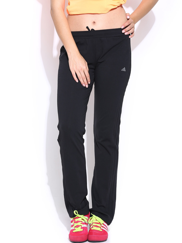 d77f314c347d Adidas aa8404 Women Black 3s Yoga Training Track Pants- Price in India