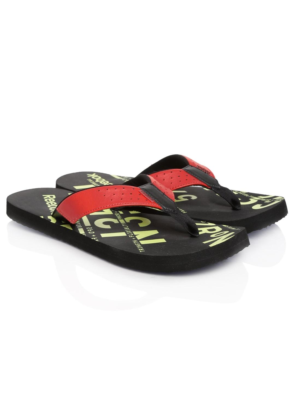bb103d0cc8d733 Reebok v62290 Men Red And Black Gradient Flip Ii Lp Printed Flip Flops-  Price in India