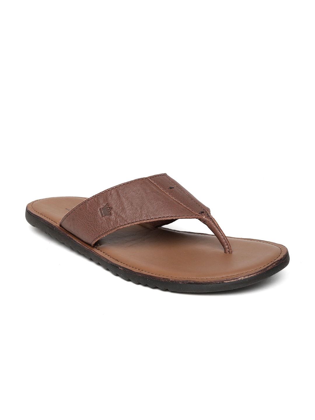 4f6356950f2b Buy Van Heusen Men Brown Leather Sandals - Sandals for Men 1218059 ...