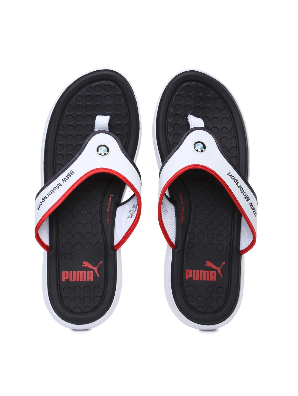897dad75a9f Puma 30491403 Men Black And White Bmw Motorsport Slip In Flip Flops- Price  in India