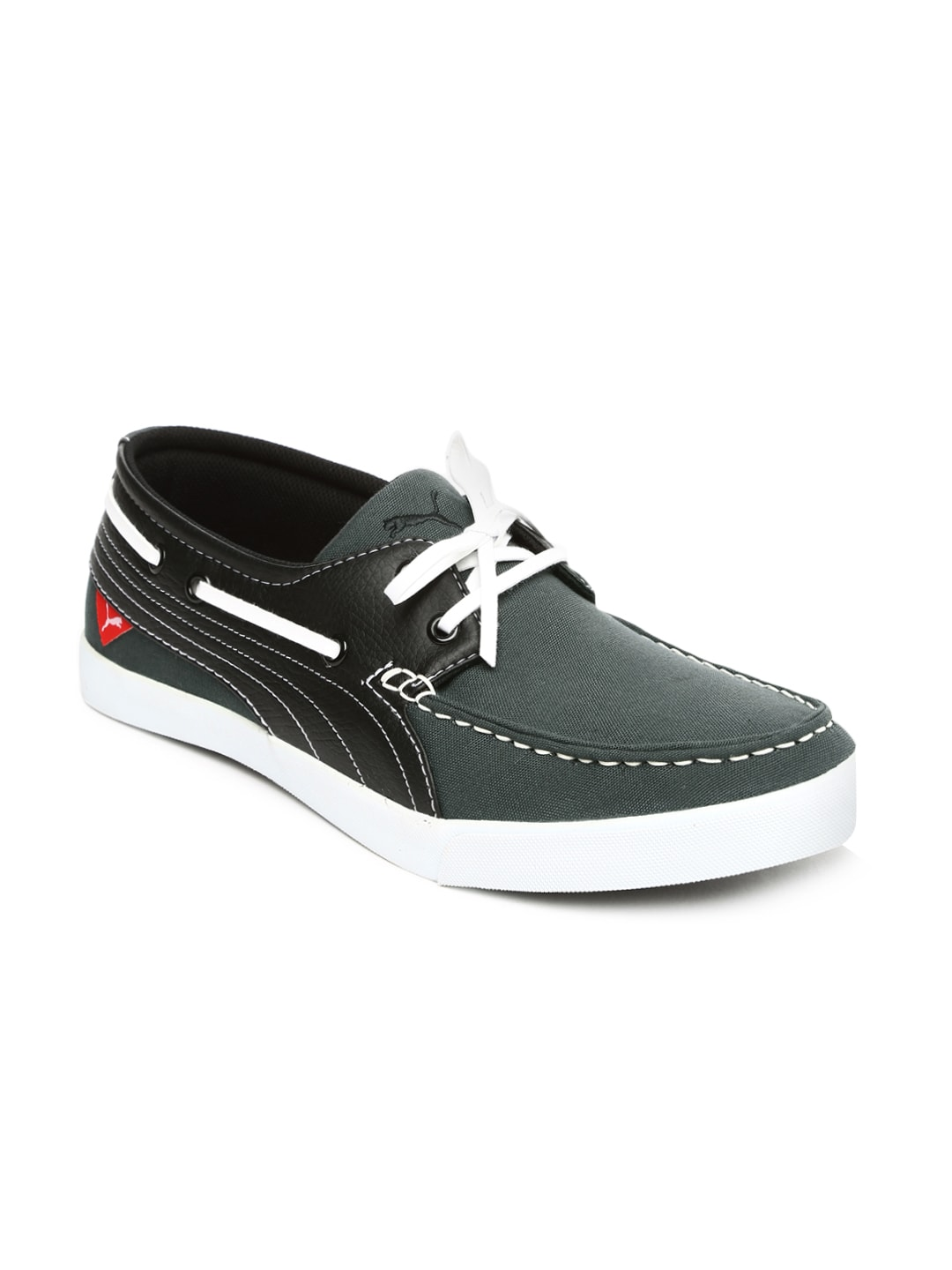 da7a7bf55265 Puma 35952902 Men Black And Grey Yacht Syn Dp Boat Shoes- Price in India