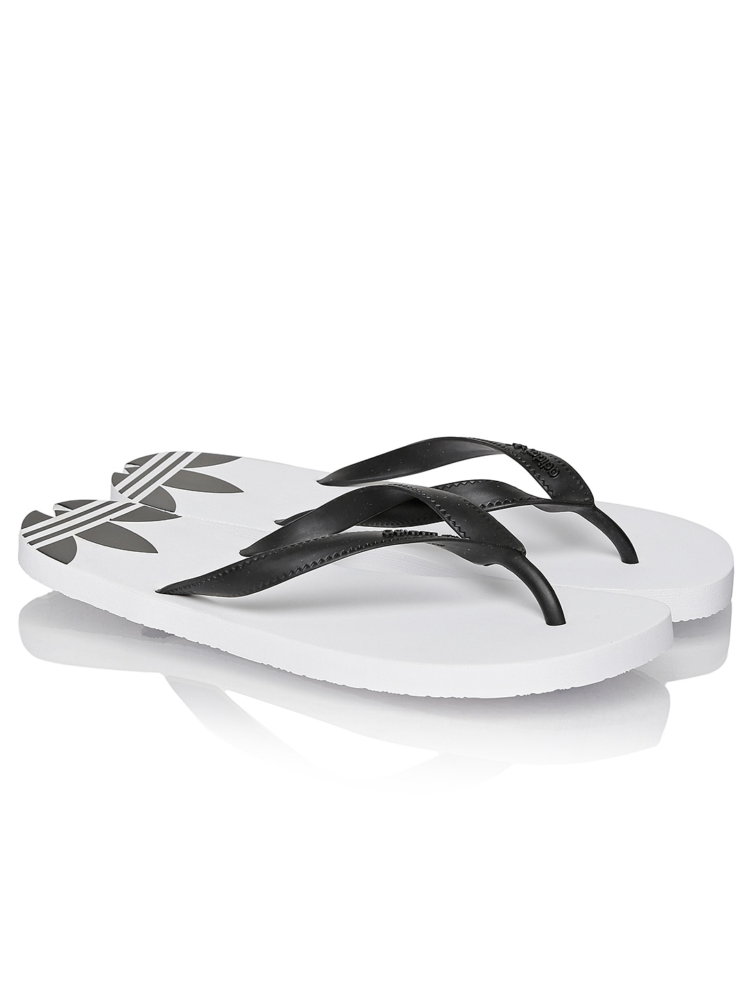96680298a Adidas originals d65627 Men Black And White Adi Sun Flip Flops- Price in  India