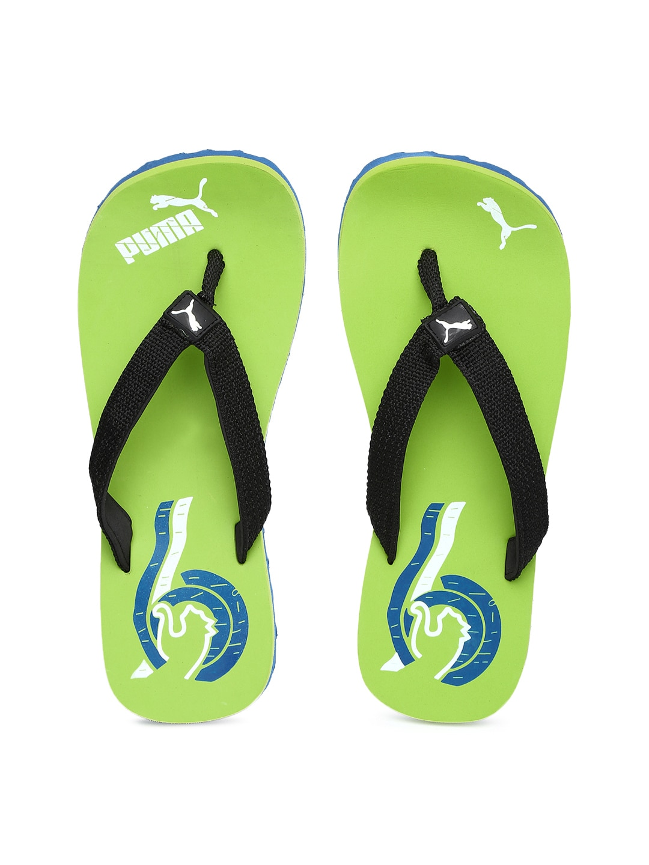 e747562e3 Puma 35958302 Men Black And Green Wave Dp Printed Flip Flops- Price in India