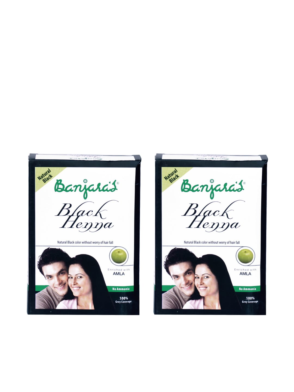 c99d6cd377828 Banjaras 8906050591715 Unisex Set Of 2 Black Henna With Amla Hair Colour-  Price in India