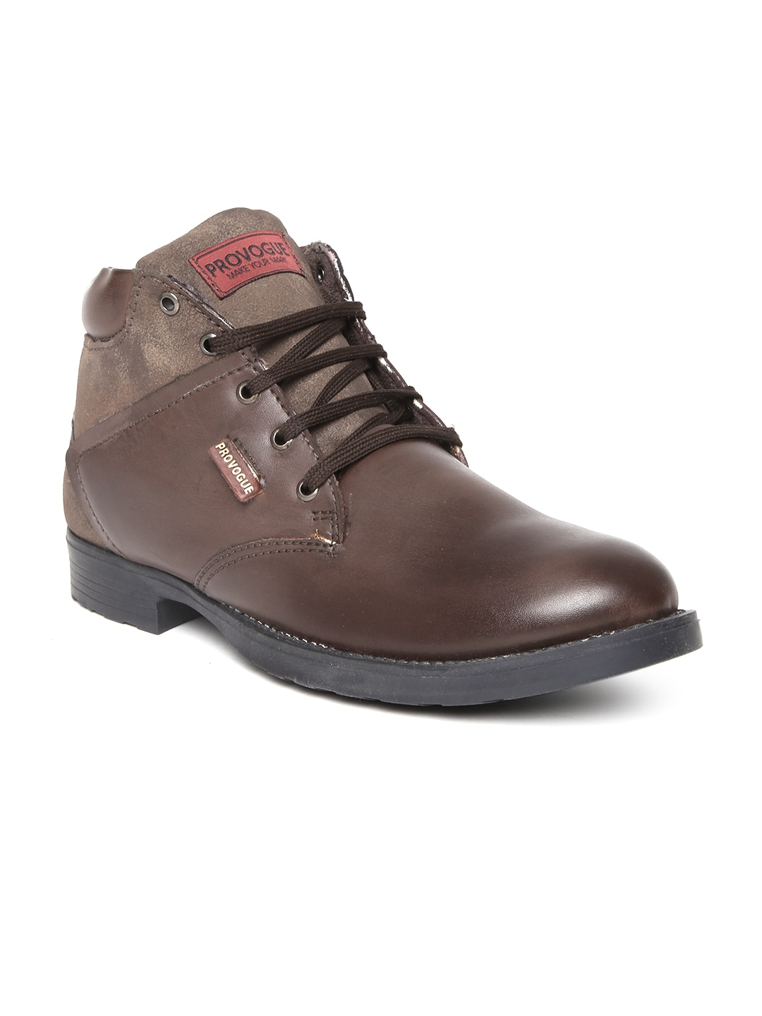 28acbdc6e42a Provogue pv7105-brown Men Dark Brown Leather Casual Shoes- Price in India