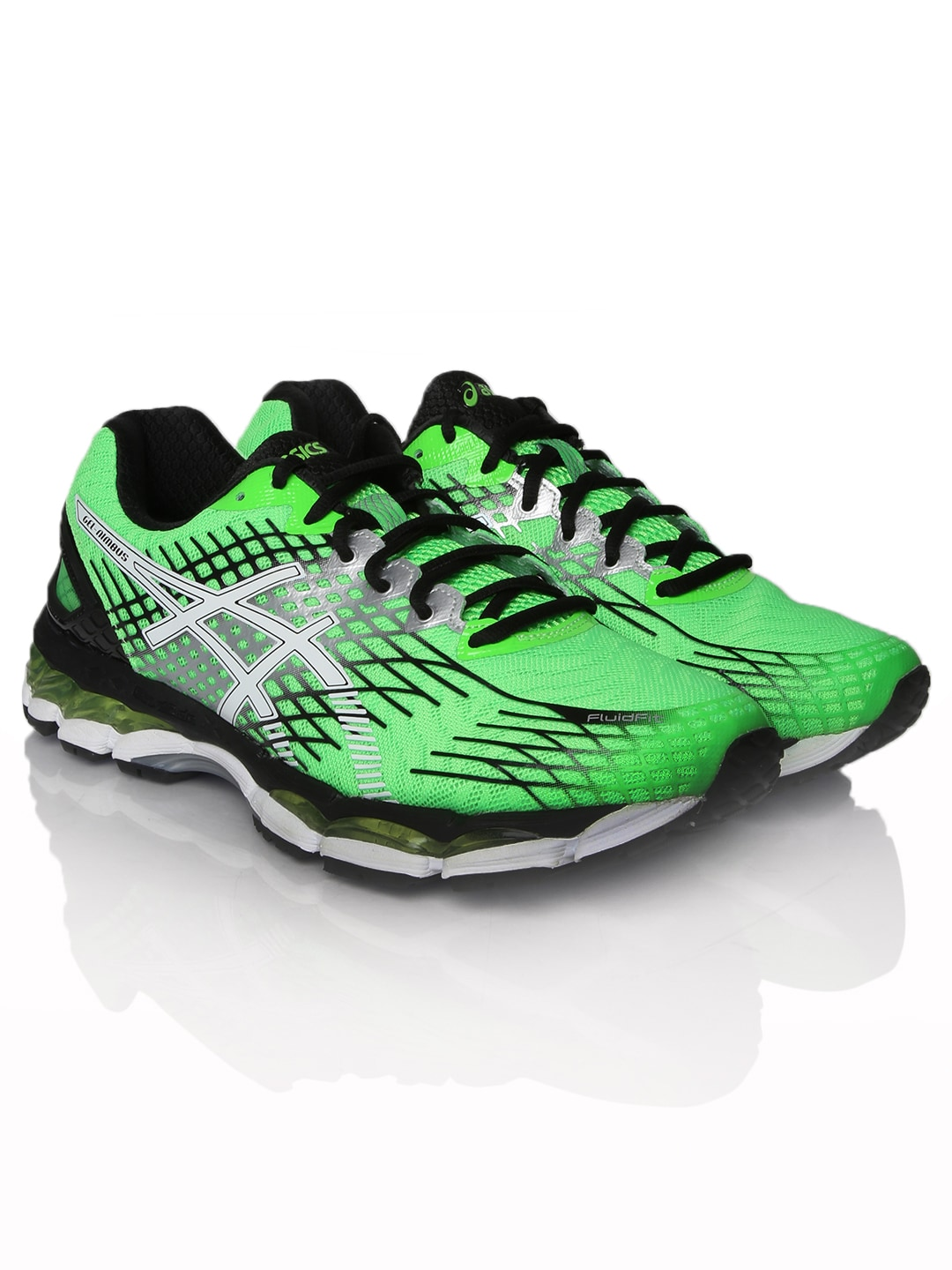 finest selection b2f4f e67ff Asics t508n-8501 Men Green Gel Nimbus 17 2e Running Shoes