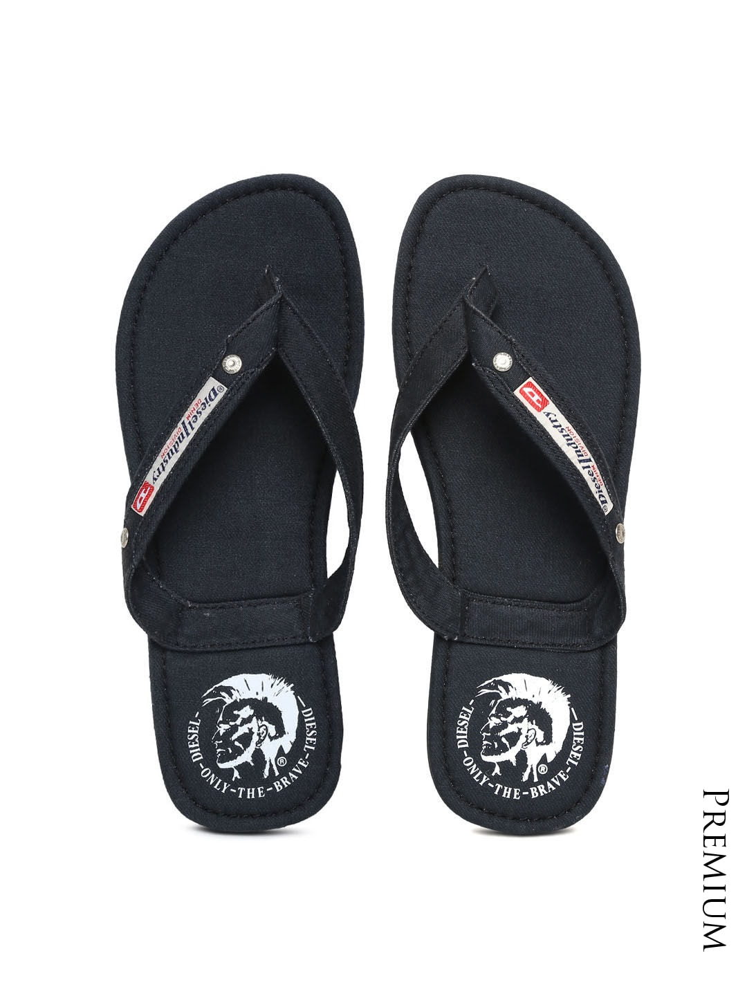 bb98277cd Diesel 00-y753-pr012-black Men Black Aqualife Seaside Denim Flip Flops-  Price in India