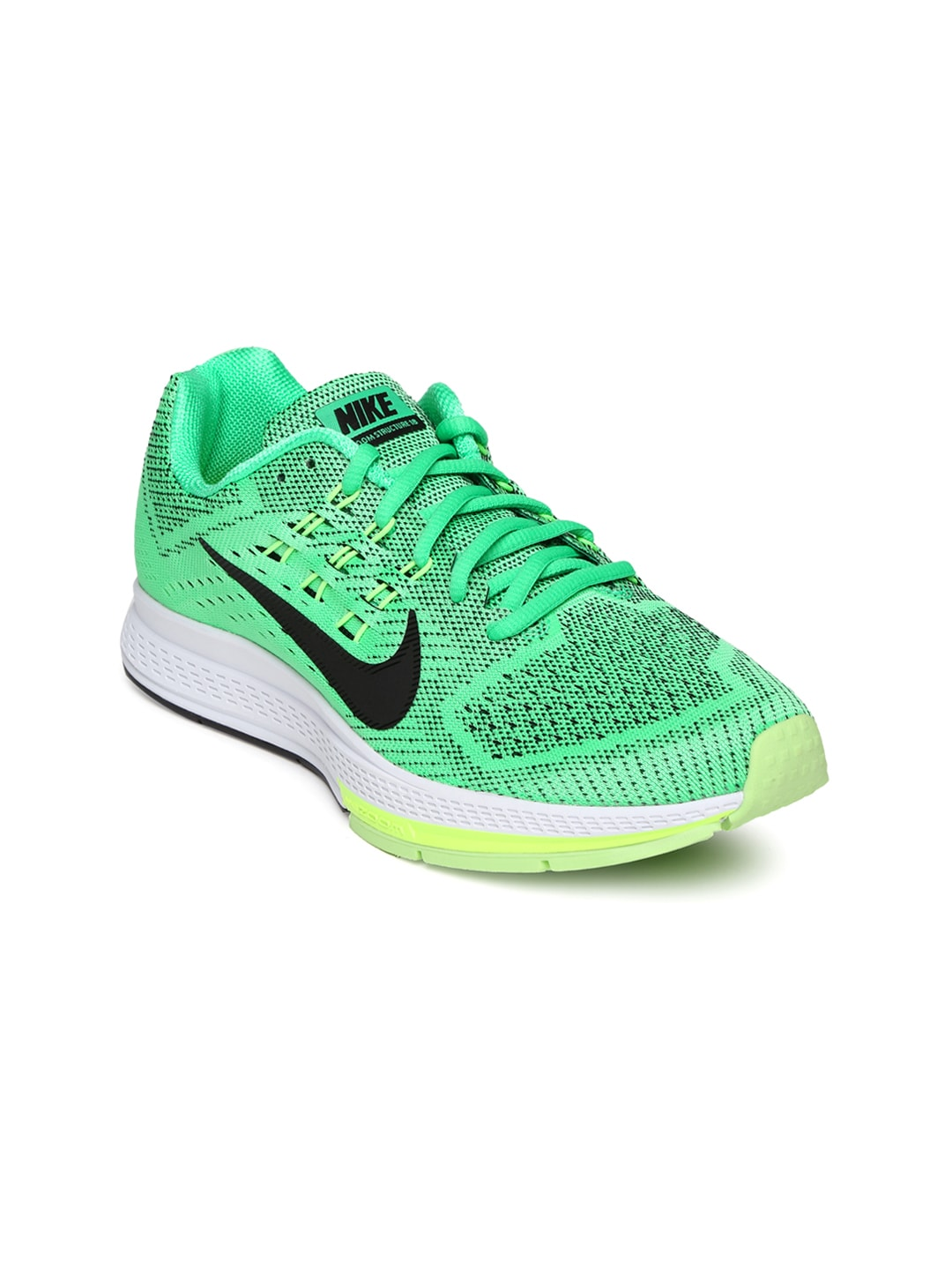timeless design 8c2d5 3c046 Nike 683737-303 Women Green Air Zoom Structure 18 ...