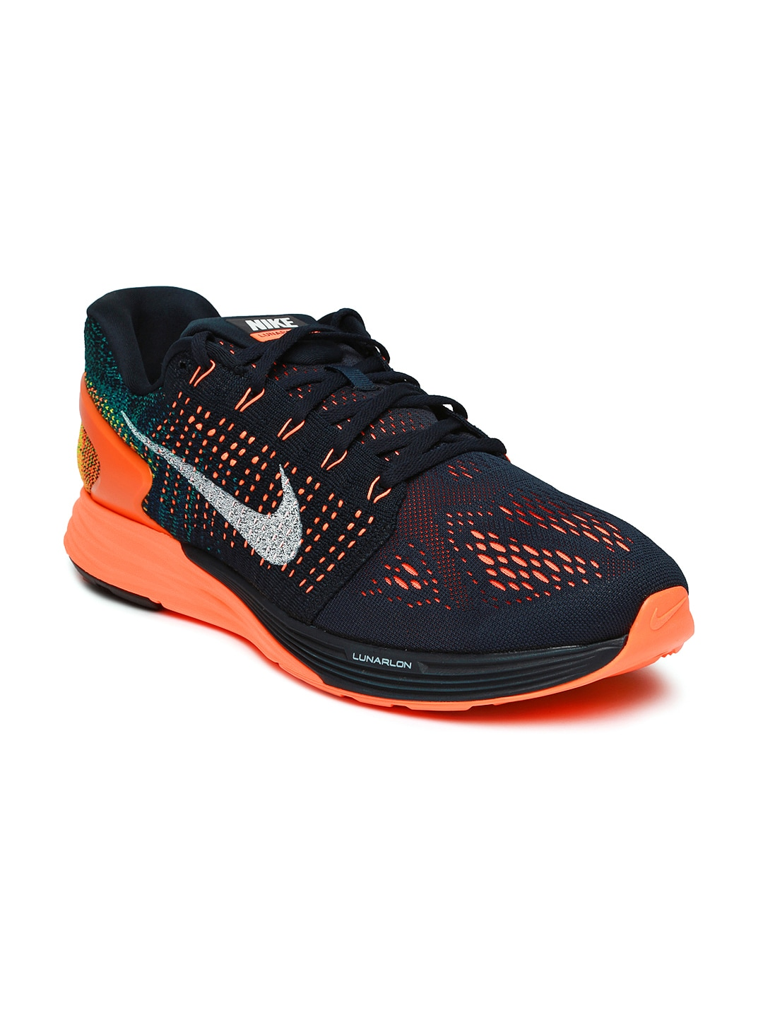 low priced 8e8c3 3fece Nike 747355-400 Men Navy Lunarglide 7 Running Shoes ...