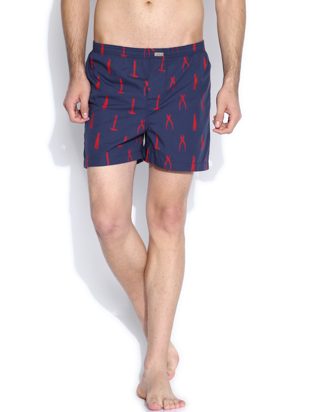 Flying Machine Navy & Red Printed Boxers FMST0202 image