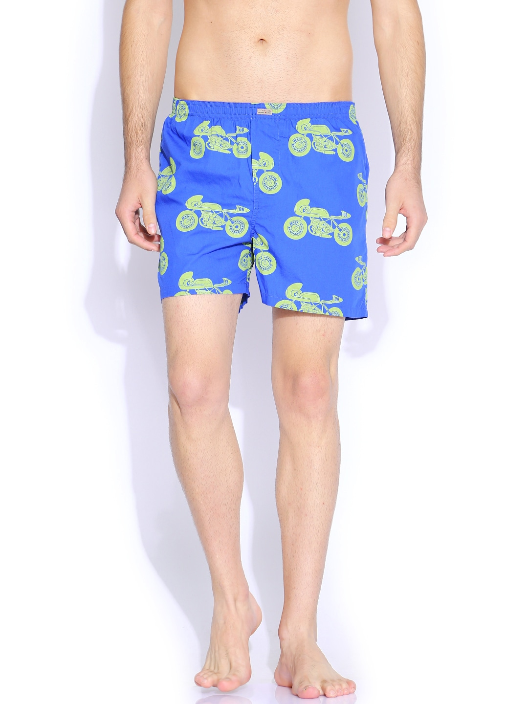 Flying Machine Blue & Green Printed Boxers FMST0207 image
