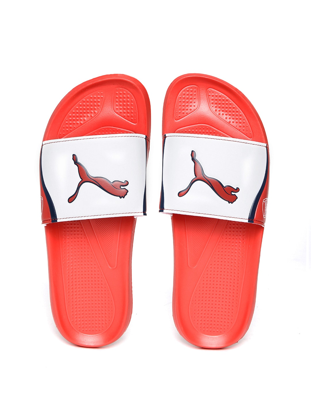 9e172d4d1d1 Puma 10345501 Arsenal By Men Red And White Colour Block Afc Team Cat Flip  Flops- Price in India