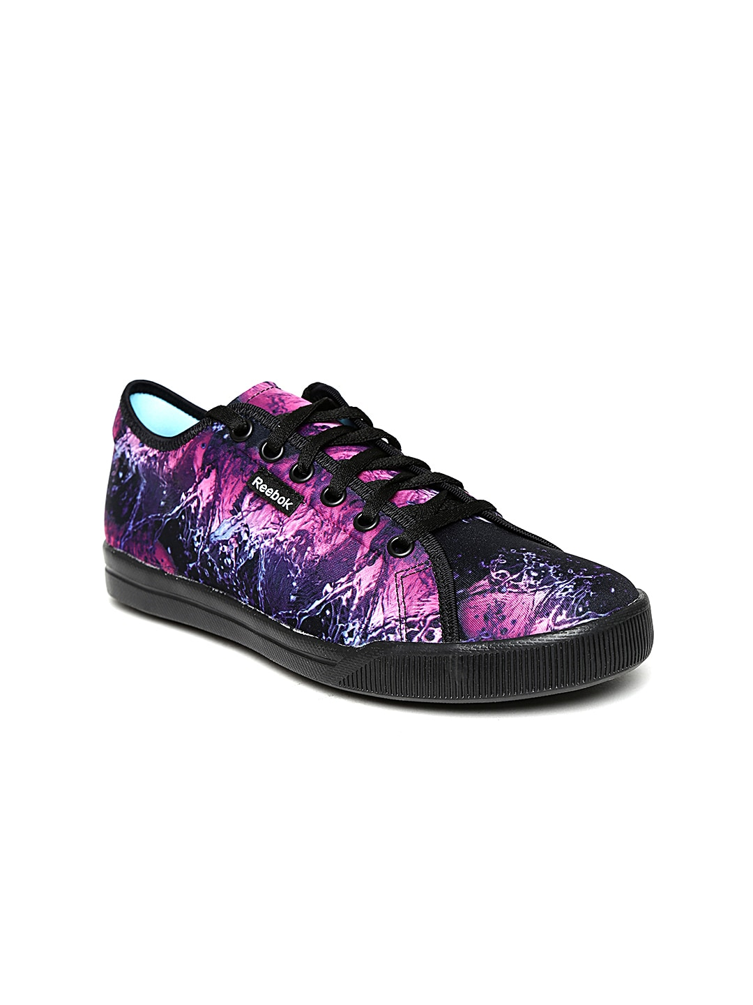 705453ca077baa Reebok v65944 Women Magenta And Black Skyscape Runaround 20 Printed Walking  Shoes- Price in India
