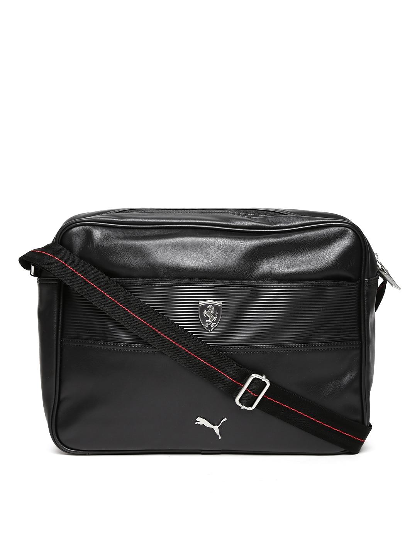 Puma 7349301 Unisex Black Ferrari Ls Reporter Messenger Bag- Price in India a59b67fedc44b